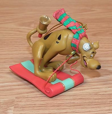Vintage 2002 Hanna-Barbera Scooby Doo On Sleigh with Bell Christmas Ornament!