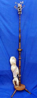 Rare tall 19th century German free-standing weaver's double distaff, circa 1870