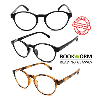 Round Reading Glasses Preppy Vintage Retro Mens Womens Ladies Tortoiseshell
