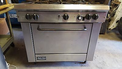 Used Superior Commercial 6 Burner Range Stove Oven Stainless Steel Natural Gas