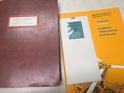 1961 Hughes 269A Helicopter Training Manual, Maintenance Handbook, & Owners Poli