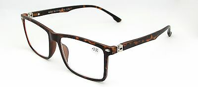 Large Frame Wayfarer Vintage Reading Glasses Tortoiseshell Mens Ladies Womens