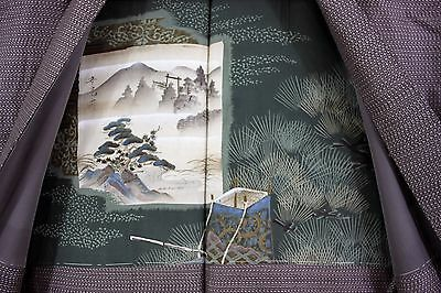 羽織 Haori - Veste japonaise - Montagnes et Torii - Made in Japan 1405 XL