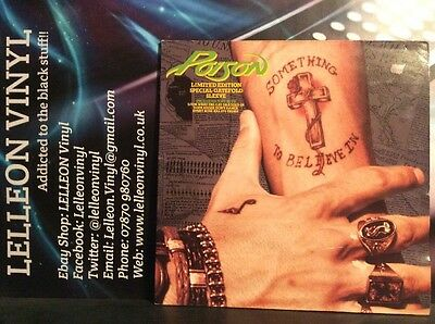"Poison Something To Believe In Limited Edition Gatefold 12"" Single 12CLG594 Rock"