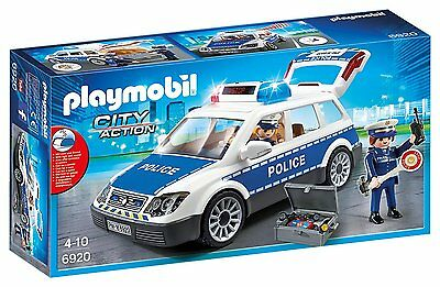 Playmobil 6920 City Action Police Car with Lights and Sound