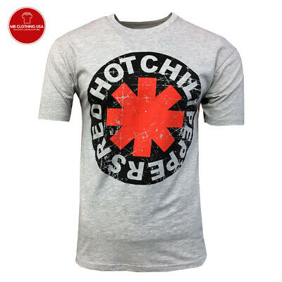RED HOT CHILI PEPPERS T-shirt -RHCP - Vintage -Lollapalooza Gray w/ Black Logo