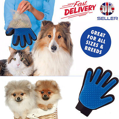 Pet Dog Cat Grooming Glove Dirt Hair Removal Remover Brush for Gentle Deshedding