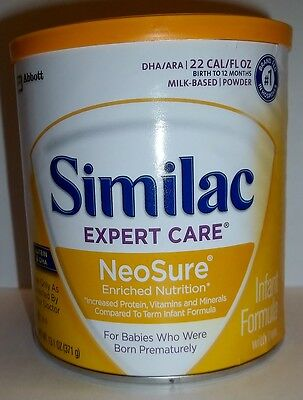 Similac 57430 Expert Care NeoSure Powder Baby Formula 13.1 oz Can FEB 2019 QTY 6