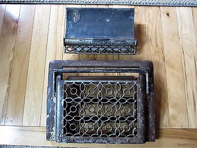 Ornate Heat Grate + HUMIDIFIER! Cast Iron Brass Victorian Vent Register Louvers
