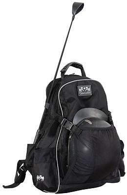 Equine Couture Super Star Back Pack Ec BLACK Silver Piping-STD Gear Bag Waterpf