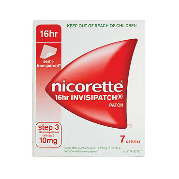 Nicorette Invisible Patches Step 3 10mg 7 NEW Cincotta Chemist