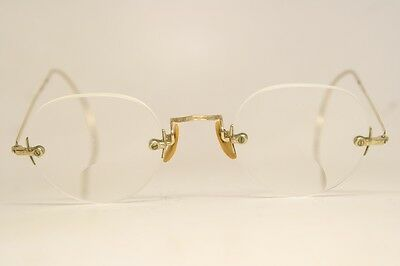 Vintage Rimless 1/10 12k Gold Filled Eyeglasses