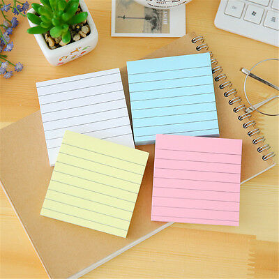 4 Pcs Packed Simple Lines Sticky Note Message Stickers Notebook Stationery