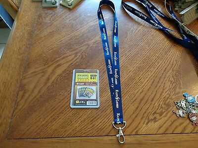 Ralph Lauren Polo Lanyard Keychain Clip with ID badge holder NEW