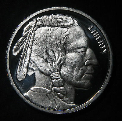 Indian Buffalo Silver Round 1 Troy Oz .999 Pure  Lot 121024