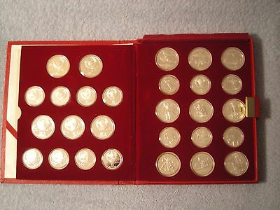 1980 Soviet Olympic silver 28 coin set proofs 5 and 10 rubble