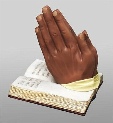 African American Praying Hands with Bible Figurine