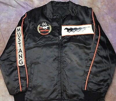 BA2 vtg 1979 indy 500 pace car Ford Mustang satin quilted jacket S?