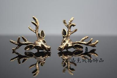 fashion Brooch Men women Collar Pin Clothe Jewelry Retro Vintage antlers