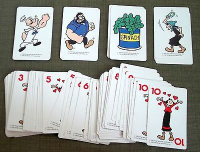 Parker Brothers Popeye Card Game 1983 Olive Oyl Hag  Brutus