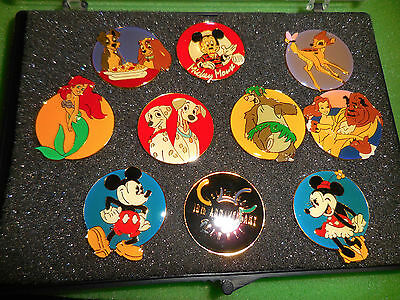 Disney Pins THE DISNEY CHANNEL 10th ANNIVERSARY 10 Pin Boxed Set