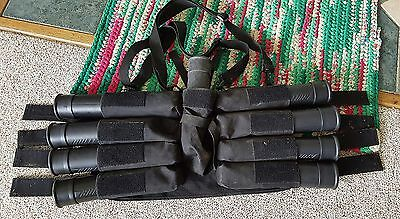 Paintball Harness Brass Eagle 8+1 Pods Included + 1 Barrel 4 Hoppers + 2 Masks @