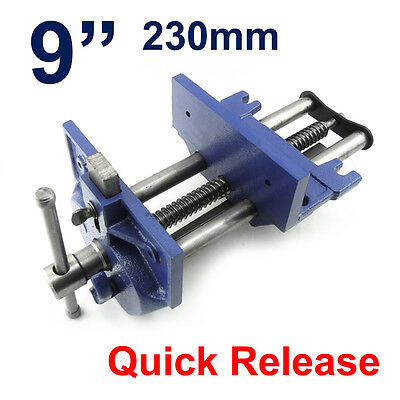 "Large 9"" 230mm Quick Release Front Vice Under Bench Woodworking Capacity 260mm"