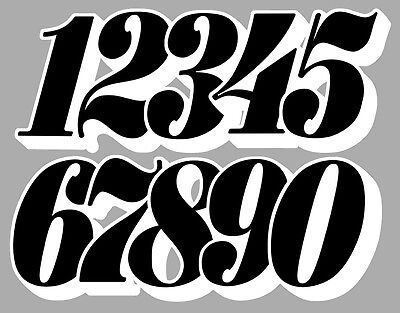 Numeros Course Racing Numbers Drift Jdm Moto Cross Autocollant Sticker Nu017Nb