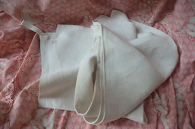 19th century linen, hand loomed EG monogrammed pure linen towel (torchon)