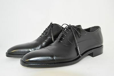 MAN-8eu-9usa-CAPTOE OXFORD-FRANCESINA-BLACK CALF-VITELLO NERO-LEATHER SOLE-CUOIO