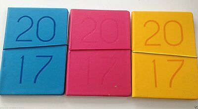 2017 Diary A5 Leather Effect Elastic Closure embossed Week to View WTV Planner