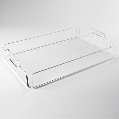 Clear And Black Acrylic Tray | Food Serving Tray | Drinks Tray | Coffee Tray- UK