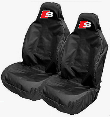 Audi S-LINE Car Sports Bucket Seat Covers Protectors S1 S3 S4 S5 S6 S8 A4 A5 A6
