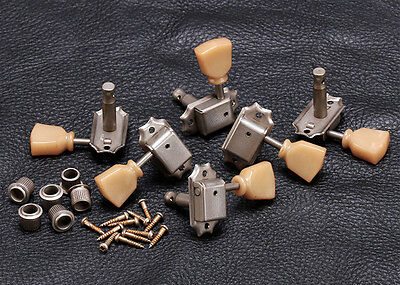Gotoh SD90 3x3 Vintage Guitar Tuners • Keystone Button • Nickel 3+3 a Side