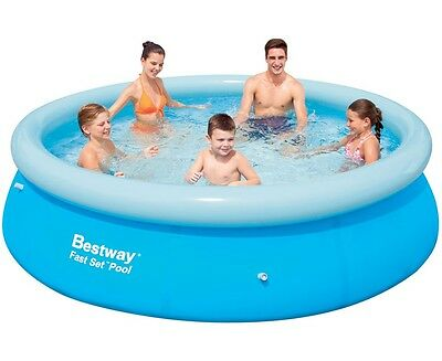 "Bestway Fast Set Round Inflatable Pool 10ft x 30"" No Pump - 57266"