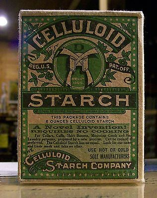 Early 1900S Celluloid Starch Box Never Opened