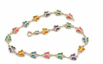 New 9CT Gold Filled Butterfly  Anklet  B36