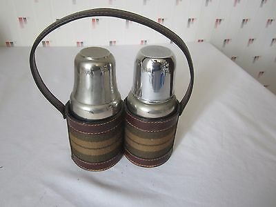 Lot De Deux Thermos Vintage En Inox Thermid Bon Etat Collection Rare