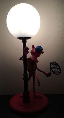 NOVELTY TABLE LAMP PINK PANTHER LAMP MADE IN ITALY BY NUEVA LINEA ZERO 80s
