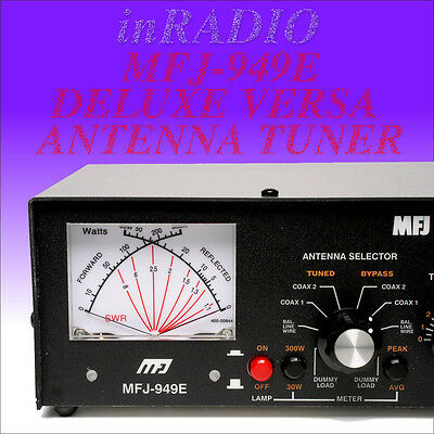 MFJ-949E - 300W ANTENNA TUNER, 1.8-30 MHz, PEAK CROSS METER, DL MF fast delivery