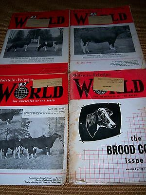 Lot Of 4 Holstein Friesian Magazines 1962, 1963, 1969 Milk Cows, Cattle (1)
