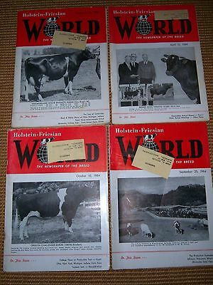 Lot Of 4 Holstein Friesian Magazines 1964, 1969 Milk Cows, Cattle (2)