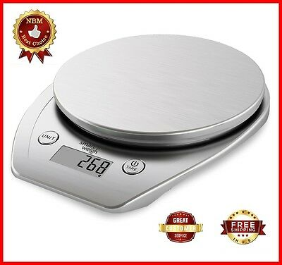 11lbs/5kg Digital Electronic LCD Kitchen Scale Weight Balance Food Diet Postal