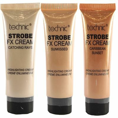 Technic FX Strobe Highlighting Cream Face & Body Highlighter Shimmer Bronzer