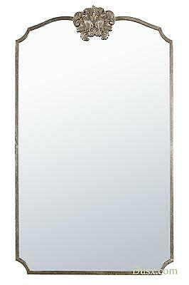 DUSX Woodland Crest Silver Metal Framed Fox EXTRA LARGE Leaner Mirror 90 x 152cm
