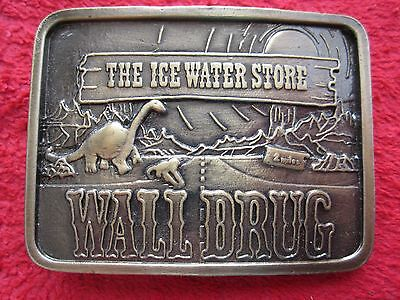 Vintage Wall Drug South Dakota The Ice Water Store Belt Buckle