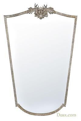 DUSX Woodland Crest Silver Deer Large Wall Decorative Mirror 63x96cm