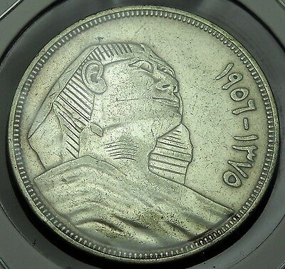+++ Egypt 1956 20 Piastres.  World - Foreign Silver Coin.  Free Shipping!