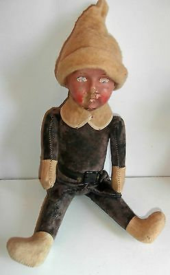 SALE LOWER PRICE/antic GERMAN rare*PURPLE teddy bear doll composition head c1900