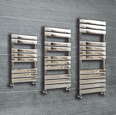 Designer Flat Panel Chrome Heated Towel Rail Radiator Warmer Premium Bathroom
